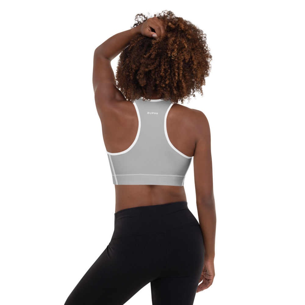 BUPHè Padded Sports Bra Grey