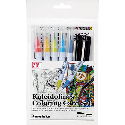 Kaleidolines Coloring Card Set トランプ柄 (KLCC-1)