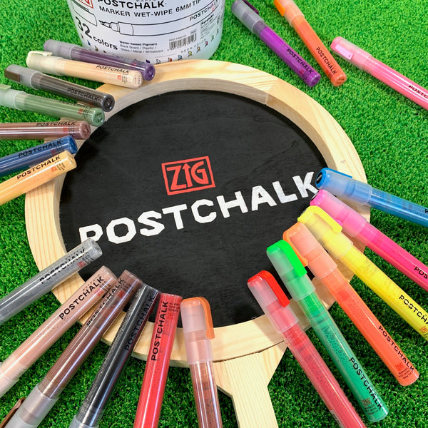 ZIG POSTCHALK MARKER WET-WIPE 6MM TIP BASIC 8色セット (POST-500A/8VA)