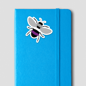Asexual Pride Bee Sticker