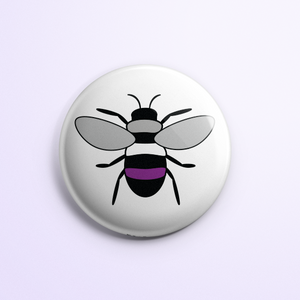 Asexual Pride Bee Button