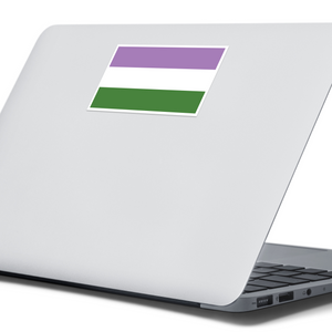 Genderqueer Pride Flag Sticker