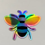 Holographic Bi Pride Bee Sticker
