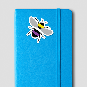 Nonbinary Pride Bee Sticker