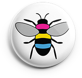 Pansexual Pride Bee Button