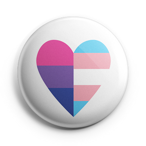 Bi+ and Trans Heart Button