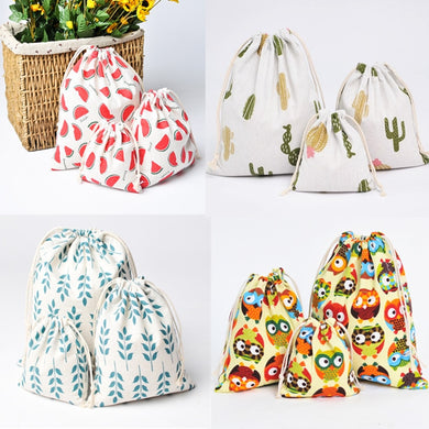 Eco Reusable Cotton Drawstring Bag