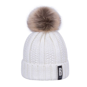 Women's Warm Pompom Hat