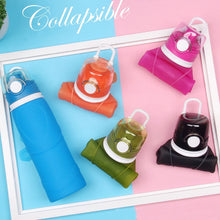 Load image into Gallery viewer, BPA Free Portable Silicone Collapsible Reusable Bottle