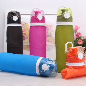 BPA Free Portable Silicone Collapsible Reusable Bottle