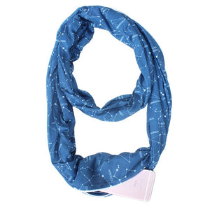 Infinity Scarf w/ Hidden Zipper Pocket