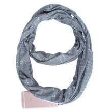 Load image into Gallery viewer, Infinity Scarf w/ Hidden Zipper Pocket