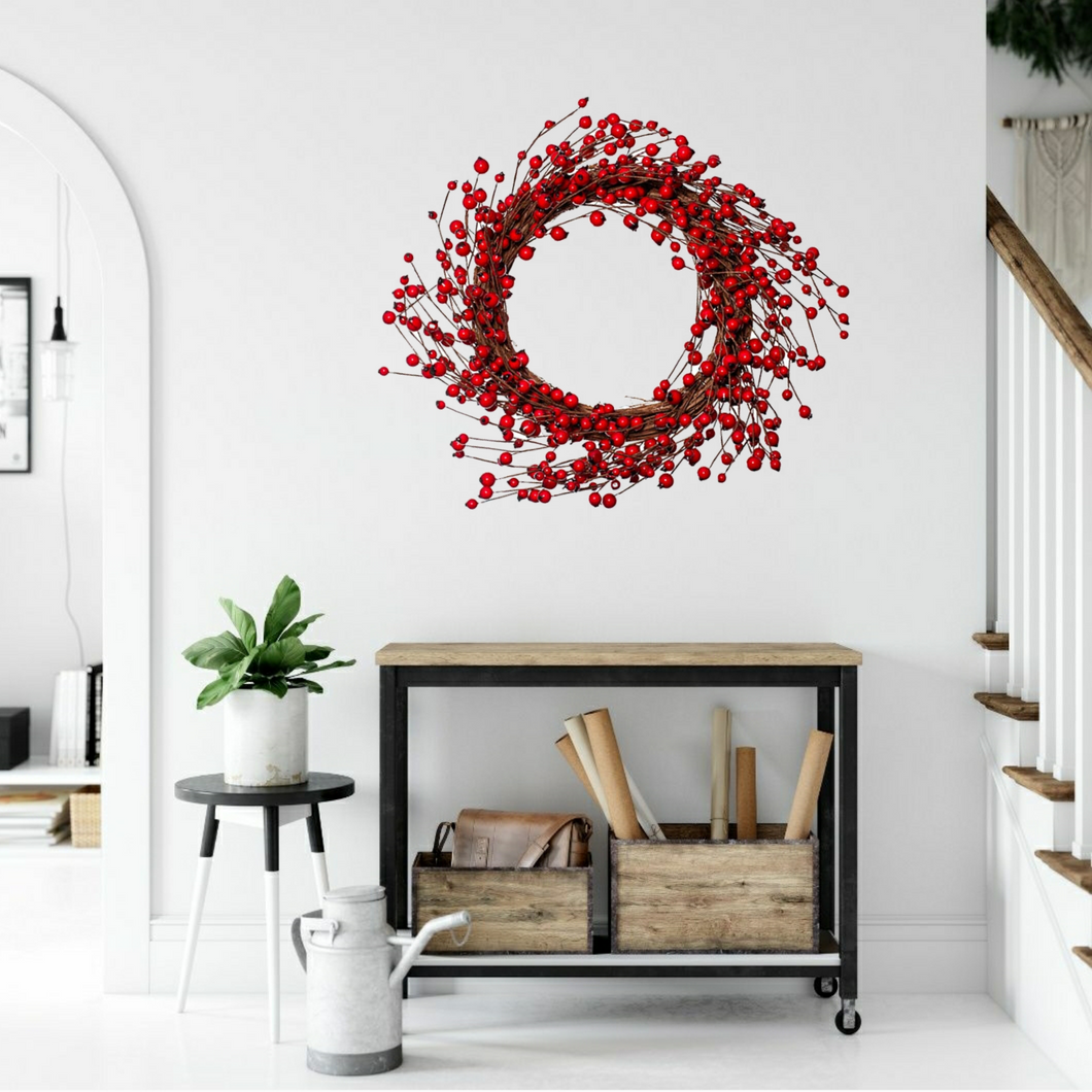 Stunning Red Berry Christmas Wreath