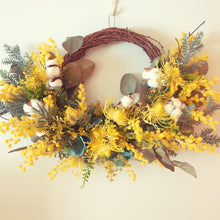 Load image into Gallery viewer, Australian Native Yellow Wattle 50cm Wreath -Free Delivery