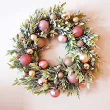 Load image into Gallery viewer, Gorgeous 50cm Pink Blush and soft foliage Christmas Wreath