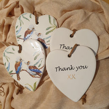 Load image into Gallery viewer, Thank You Kookaburra Ceramic Heart