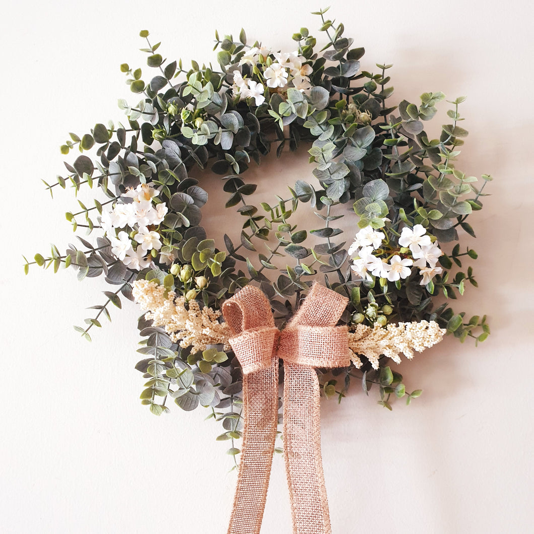 Pretty Gum and apple blossom wreath