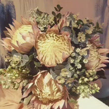 Load and play video in Gallery viewer, Giant King Protea Australian Native Bouquet