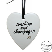 Load image into Gallery viewer, Sunshine and champagne  xx Ceramic Heart