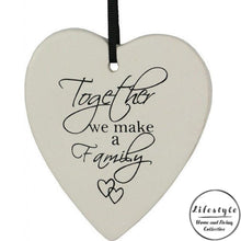 Load image into Gallery viewer, Together we make a family Ceramic Heart