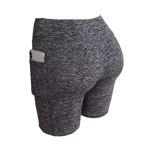 Yoga Shorts with Smartphone Pocket