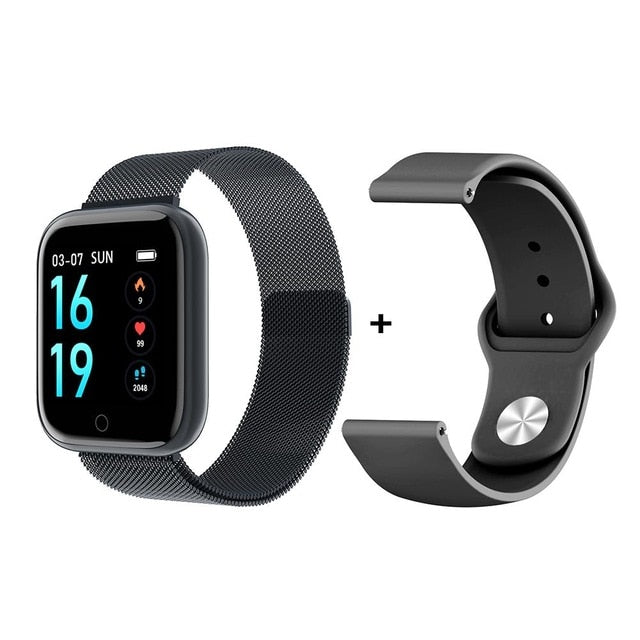 Steel + Silica Smartwatch - Fitness Tracker