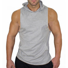 Load image into Gallery viewer, Plain Hooded Tank Top Men