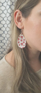 FAUX LEATHER EARRINGS - CHRISTMAS PRESENTS - Handmade Creations by Liz