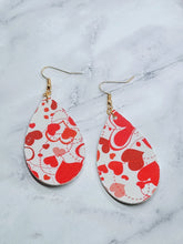 Load image into Gallery viewer, FAUX LEATHER EARRINGS - MOVING HEARTS - Handmade Creations by Liz