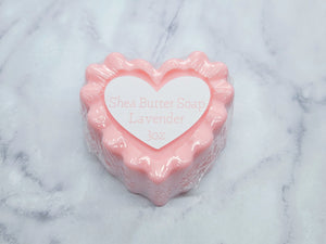Heart Shaped - Handmade Shea Butter Soap Bar