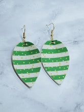 Load image into Gallery viewer, LUCKY STRIPES FAUX LEATHER EARRINGS -  MAGNOLIA