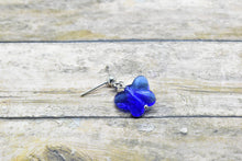 Load image into Gallery viewer, BLUE RHINESTONE BUTTERFLY EARRINGS - Handmade Creations by Liz