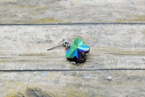 IRIDESCENT RHINESTONE BUTTERFLY EARRINGS - Handmade Creations by Liz