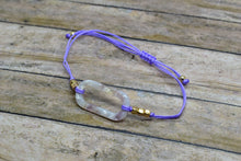 Load image into Gallery viewer, LILAC LOOP CHARM BRACELET - Handmade Creations by Liz
