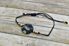 Load image into Gallery viewer, BLACK CIRCLE CHARM BRACELET - Handmade Creations by Liz