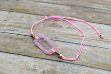 Load image into Gallery viewer, PINK LOOP CHARM BRACELET - Handmade Creations by Liz
