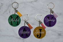 Load image into Gallery viewer, PERSONALIZED KEYCHAIN - GLITTER