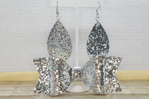 SILVER GLITTER MOMMY AND ME SET