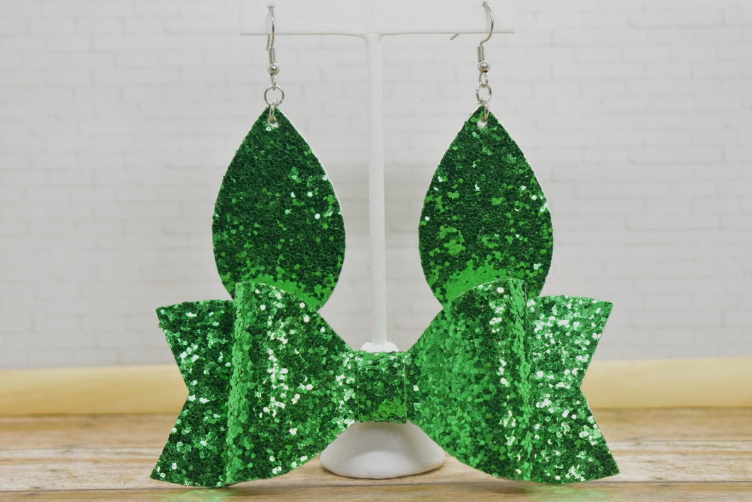 GREEN GLITTER MOMMY AND ME SET