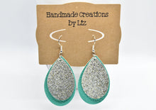 Load image into Gallery viewer, FAUX LEATHER EARRINGS - EASTER COLORS LEAF - Handmade Creations by Liz