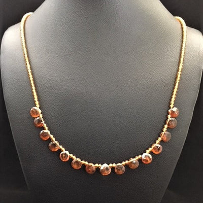Hessonite Briolettes by Ginger Jewelry