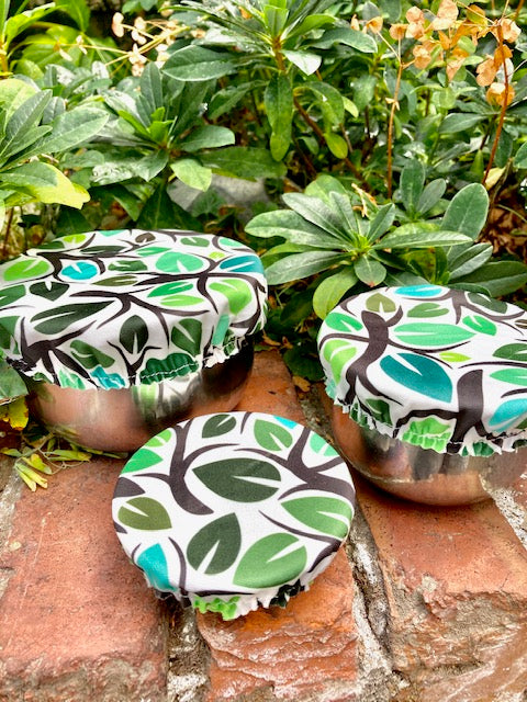 Eco Trees Mini Reusable Bowl Cover Set