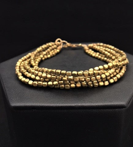 Brass Strands Bracelet