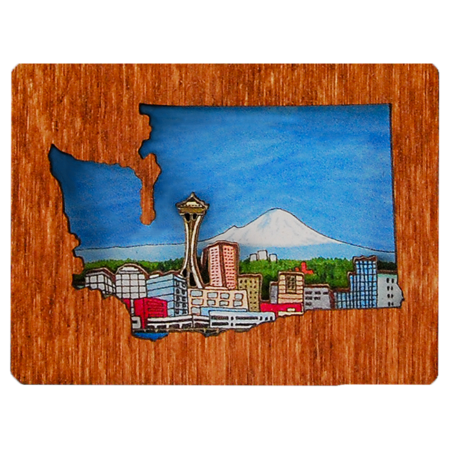 Wooden Diorama Magnets