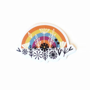 Rainbow & Flowers Sticker