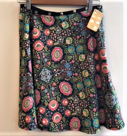 Colorful Flower Snap Around Skirt