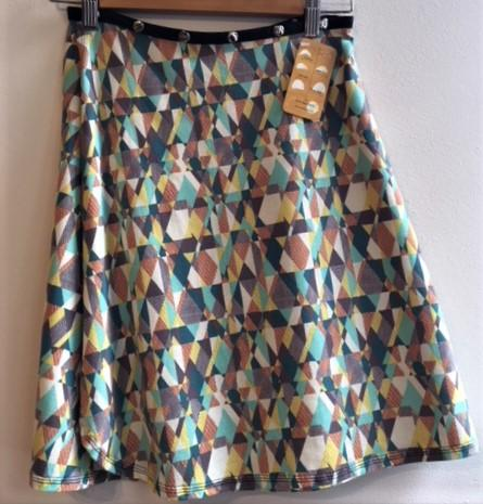 Geometric Shapes Snap Around Skirt
