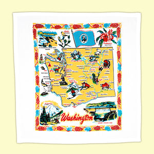 Washington State Tea Towel-Made by Red and White Kitchen