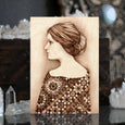 Figurative Pyrography Woodburning Stained Glass Art Print. Cathedral by Lauren Gray.