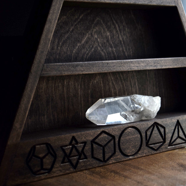 "SECONDS - The Original Sacred Geometry Shelf - 14.5"" tall"